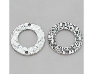 Zamak Donut  Enlace 31x1,5mm. Plata Antigua
