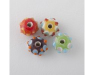 Platillo Murano 12x8mm Multicolor.  - 1 UNIDAD -