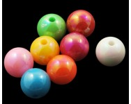Bola Color AB Acrilico 8mm Multicolor.  - 1 UNIDAD -