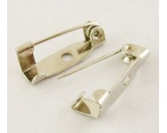 Imperdible Broche Metal 15,5x5x5mm Crudo.  - 1 UNIDAD -