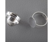 Base Anillo Oval 12x16mm. Plata