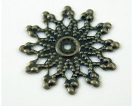 Colgante Estrella Metal Filigrana 20mm. Bronce Antiguo