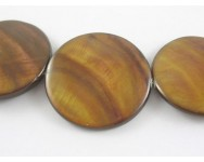 Disco Concha Natural 35x5mm.  Marron Claro