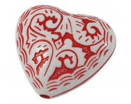 Corazon Acrilico Antiguo 30x27x12mm.