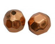 Bola Acrilico Facetado 8mm. Cobre Antiguo