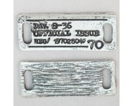 Pieza Enlace Zamak. Placa Rectangular Grabada de 34x14mm. Plata Antigua.