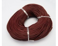 Cordon cuero natural 1mm. Marron